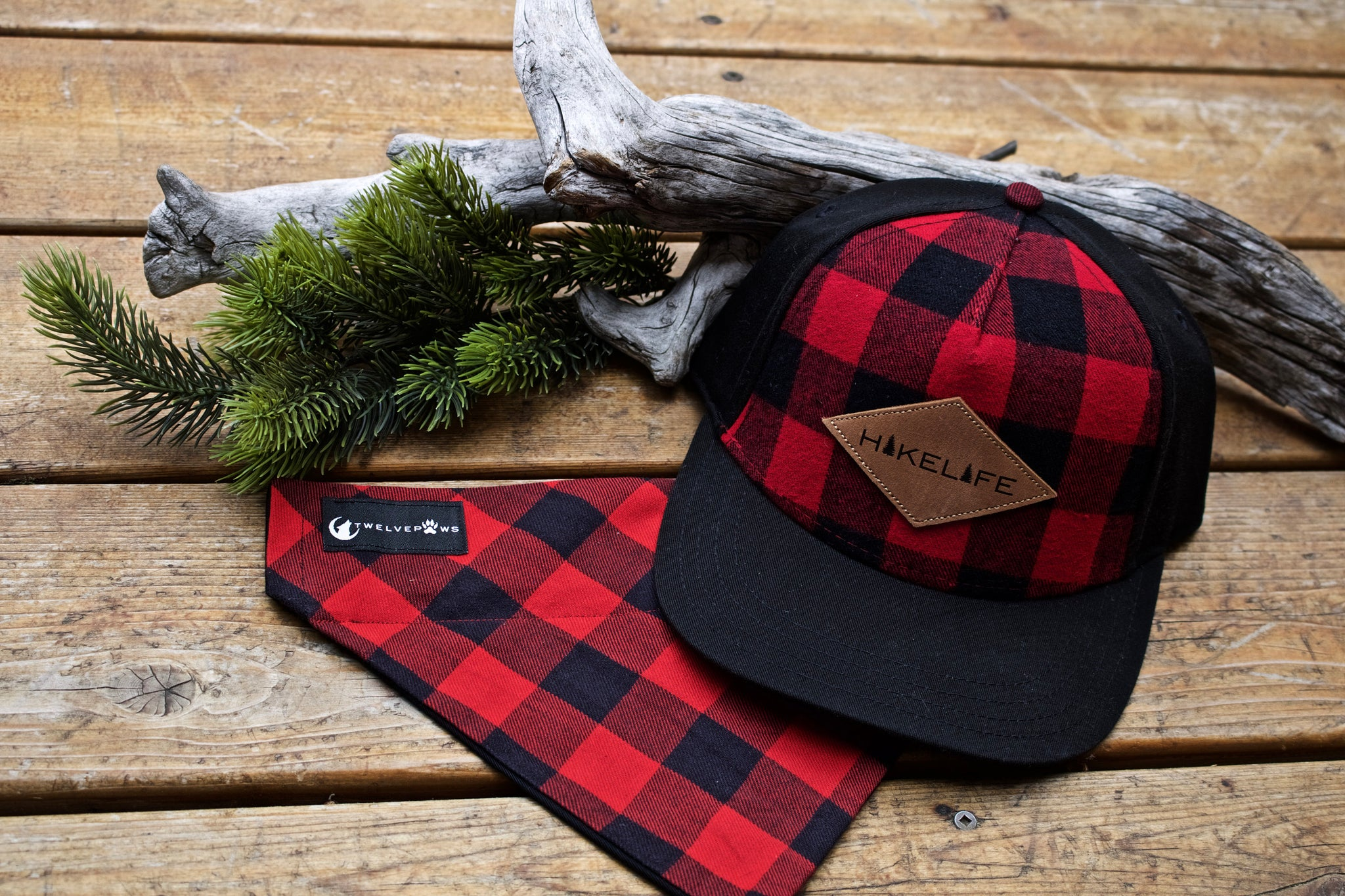 Hike Life Snapback (Red Plaid)