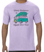Merry Christmas & Hippie New Year - ADULT Tee - Orchid