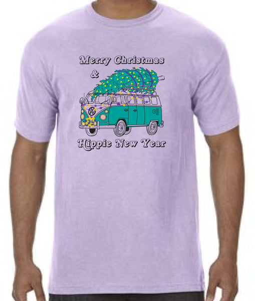 Merry Christmas & Hippie New Year - YOUTH Tee - Orchid