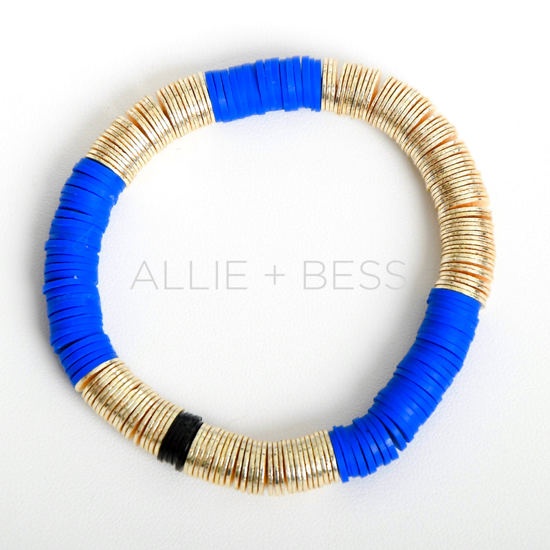 Cobalt Blue Gold Base 8mm