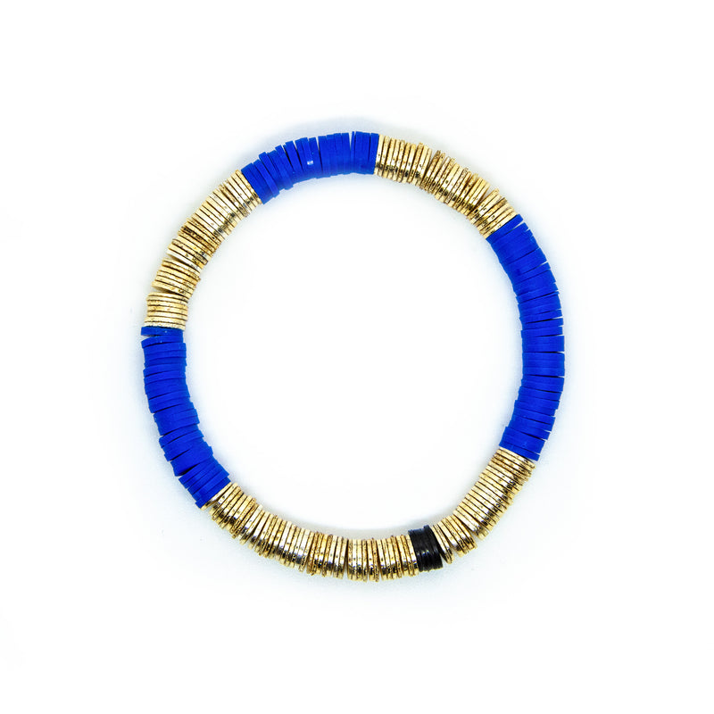 Cobalt Blue Gold Base 6mm