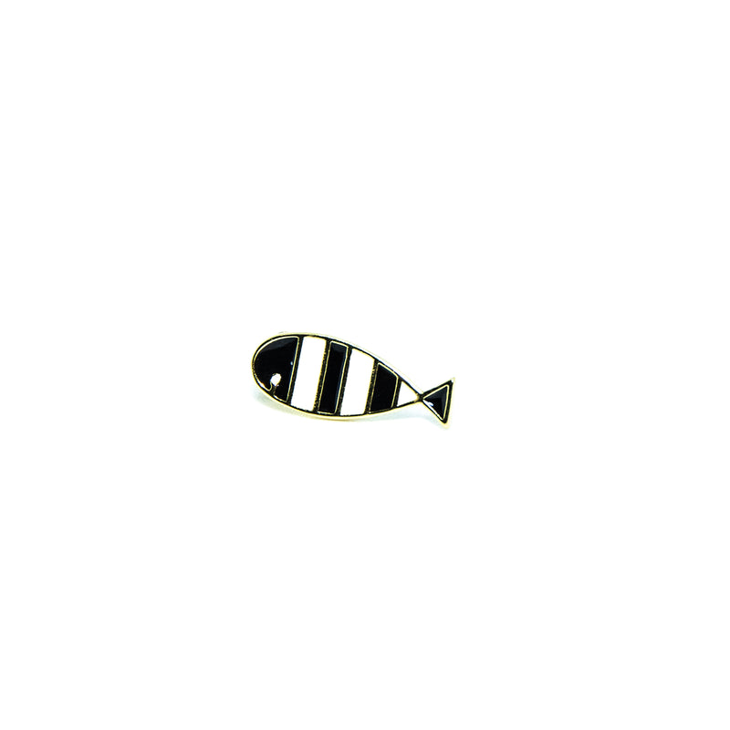 Black and White Fish Earrings