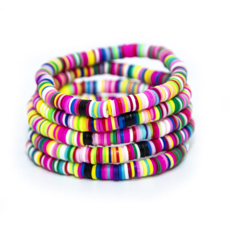 Rainbow Cabana 6mm Stack of 5