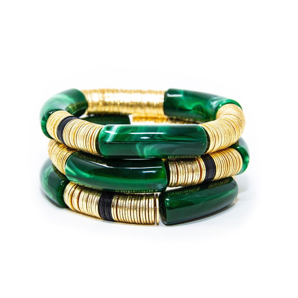 Marbled Emerald Stack of 3