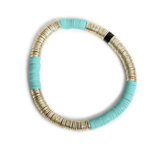 Turquoise Gold Base 6mm