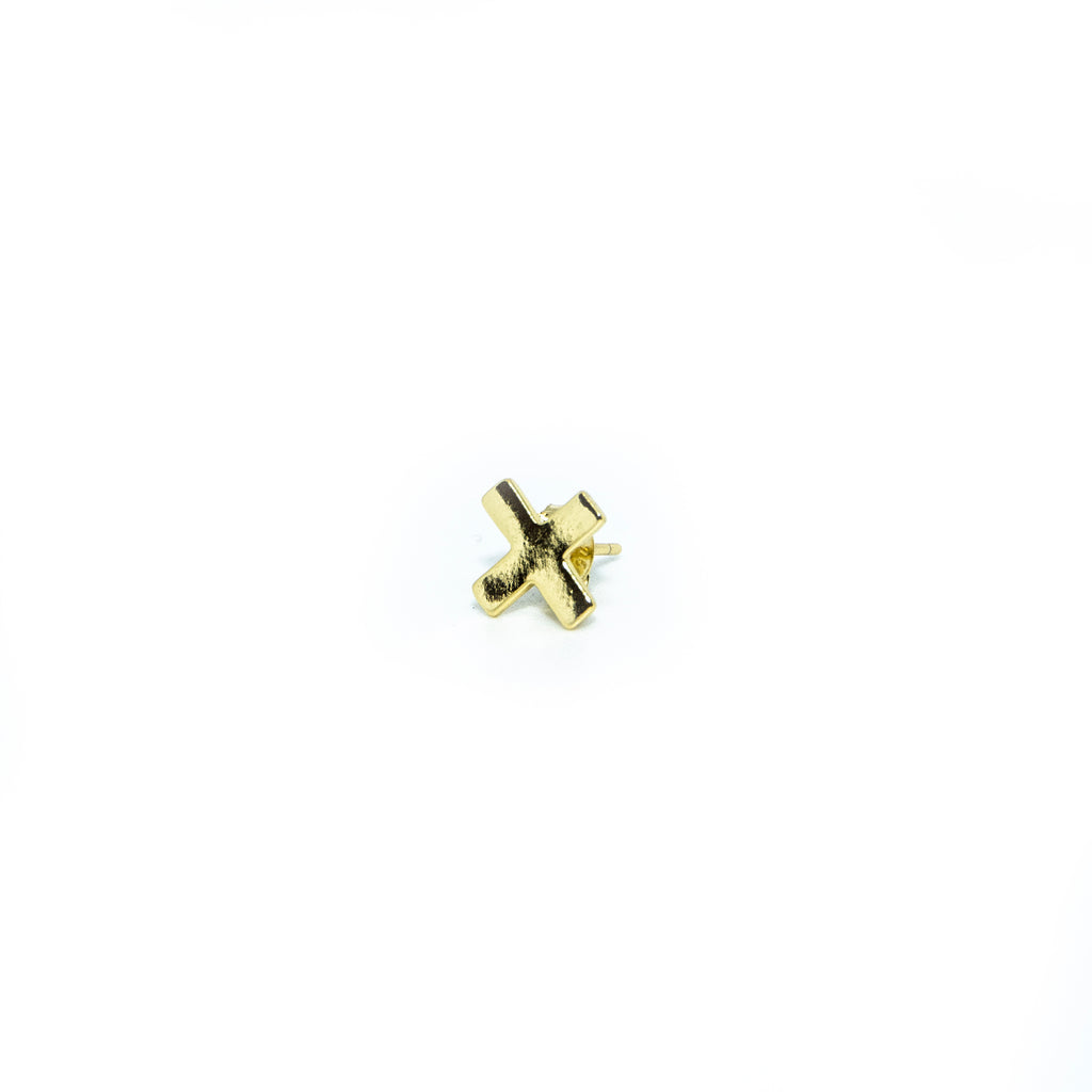 Gold 'X' Earrings