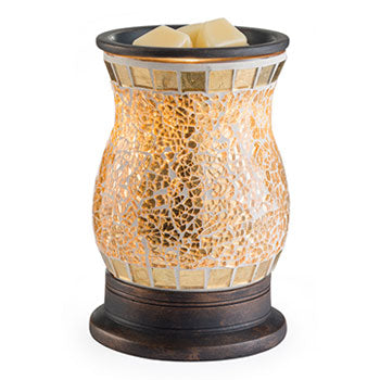 GILDED GLASS TART WARMER
