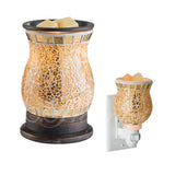 gilded scented wax tart warmer, always on smells so good