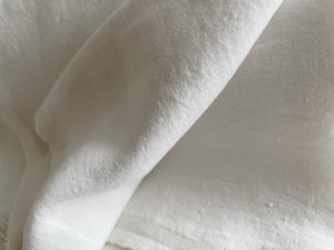 Ivory Linen Fabric - Extra Wide Stone Washed Super Soft