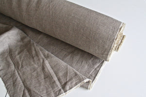 Brown Plaid Linen Fabric
