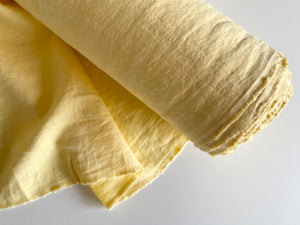 Yellow Linen Fabric - Stone Washed Super Soft