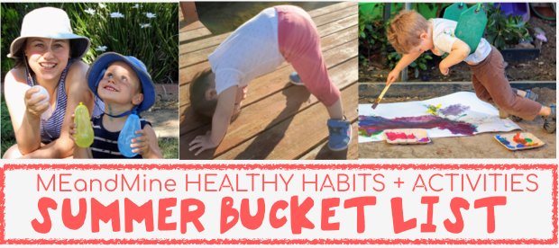 Healthy Habits + Activities Summer Bucket List