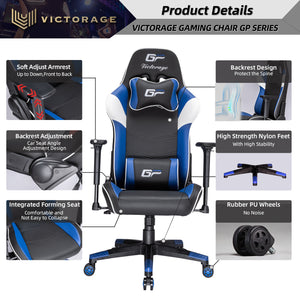 VICTORAGE Alpha Series Ergonomic Design Gaming Chair(Blue)