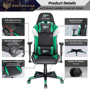 VICTORAGE Alpha Series Ergonomic Design Gaming Chair(Green)