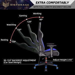 Load image into Gallery viewer, VICTORAGE Alpha Series Ergonomic Design Gaming Chair(Blue)