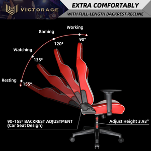 Victorage computer game chair racing chair(Red)
