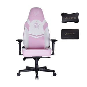 VICTORAGE PU Leather Computer Gaming Chair Home Seat(Pink)