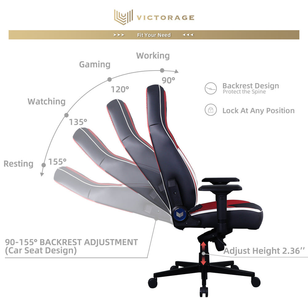 VICTORAGE PU Leather Home Seat Office Chair(Multi Color)