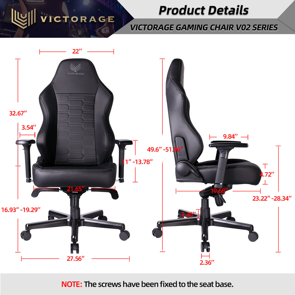 Load image into Gallery viewer, VICTORAGE Echo VE Series PU Leather Office Chair Home Seat(Carbon)
