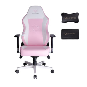 VICTORAGE Premium PU Leather Computer Gaming Chair Home Chair (Pink)