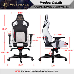 Load image into Gallery viewer, VICTORAGE  Delta VC Series Premium PU Leather Home Chair Gaming Chair(White)