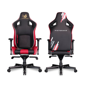 VICTORAGE Delta VC Series Premium PU Leather Home Chair Gaming Chair(Red)