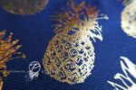 Navy & Gold Pineapple Cosmetic Bag