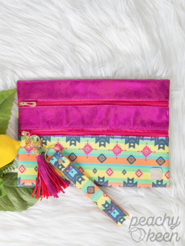 Aztec Sunset Double Zipper Versi Bag