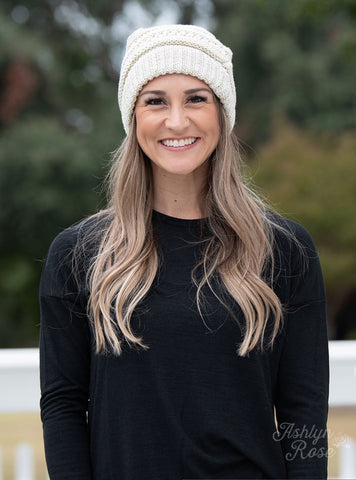 Winter Frost Beanie in Gold