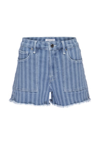 Alexandra Brief Striped Short Denim