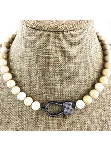 Fossil Jade Attachment Necklace