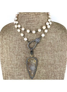 Freshwater Pearl Attachment Necklace