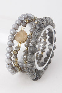 Marble-Like Beaded Stackables