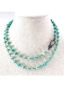 Turquoise Beaded Chain Attachment Necklace