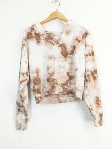 Tie Die V-neck Sweat