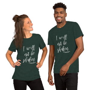 ; W;ll Not Be Shaken Tee - Soulfully Rooted Foundation Corporation