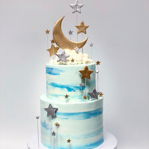 Over the Moon For You Cake
