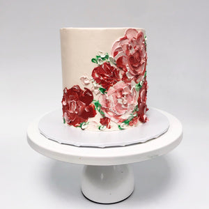 Buttercream Painted Roses Cake