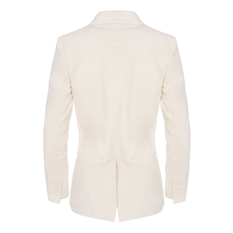 Button Blazer White Plongé