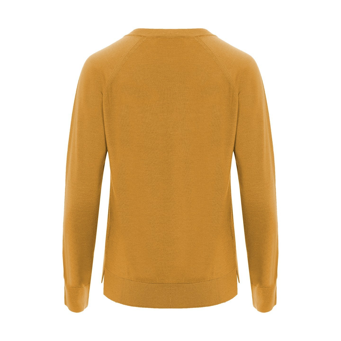 V-Neck Golden Yellow Silk and Wool