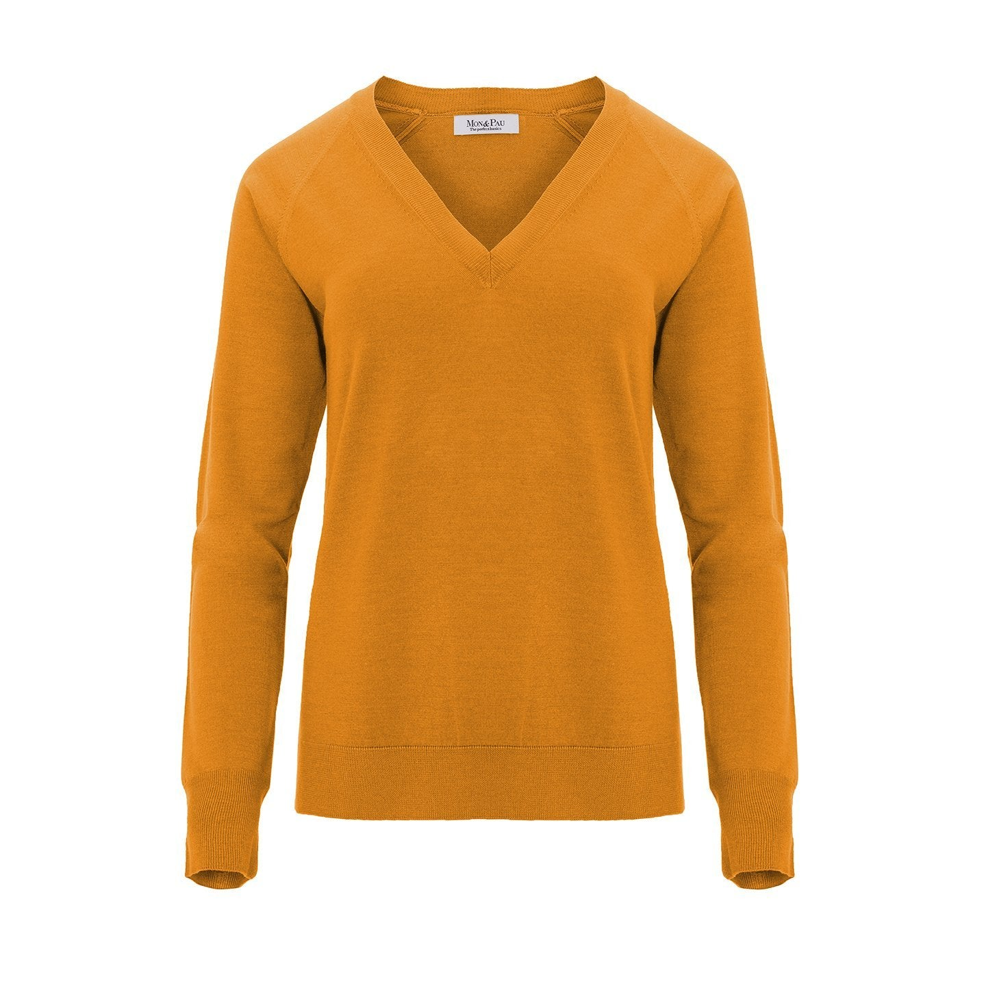 V-Neck Summer Citrus Silk and Wool