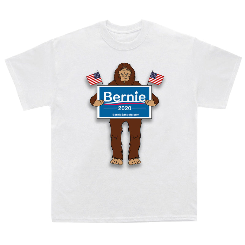 Sasquatch Presidential Election Support T-Shirt - Biden, Bernie and Trump - Sasquatch The Legend