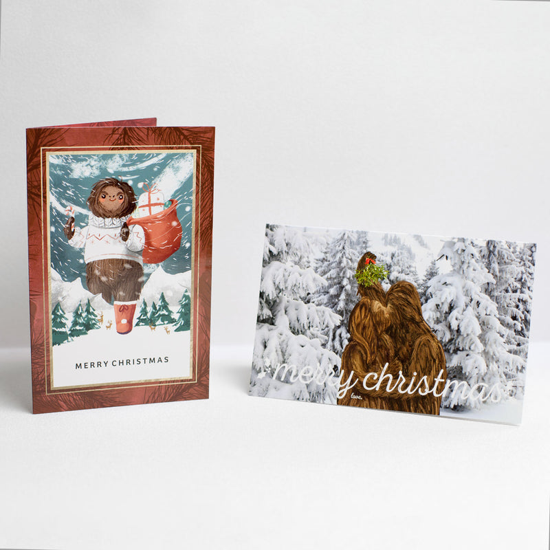 Bigfoot Christmas Card, Set of 2 - Sasquatch The Legend