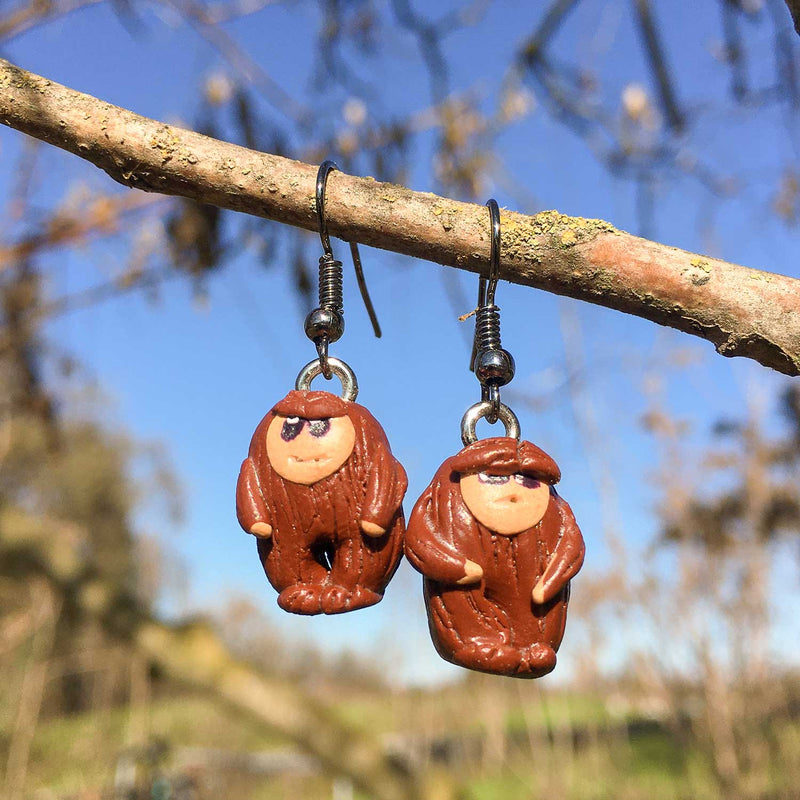 Bigfoot Earrings - Sasquatch The Legend