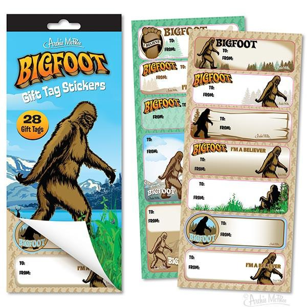 Bigfoot Gift Tag Stickers - Sasquatch The Legend
