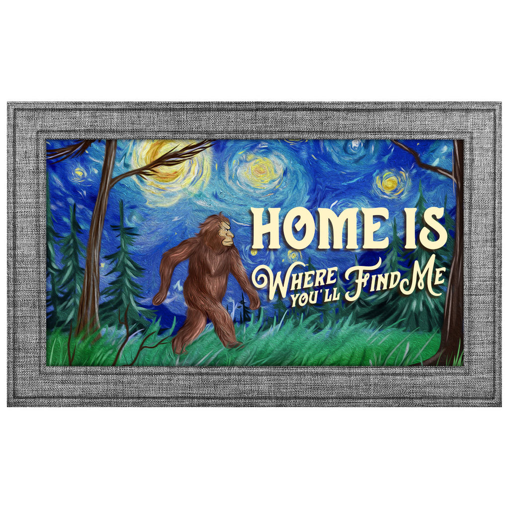 "Sasquatch Doormat Van Gogh ""Starry Night"" - Sasquatch The Legend"