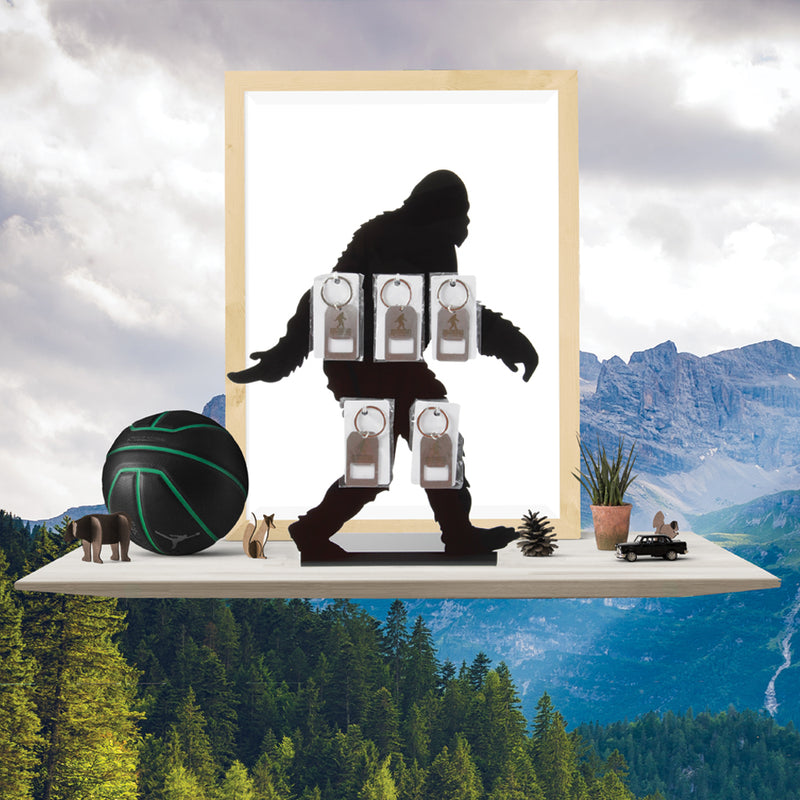 Keychain Display Stand featuring Sasquatch Silhouette - Sasquatch The Legend