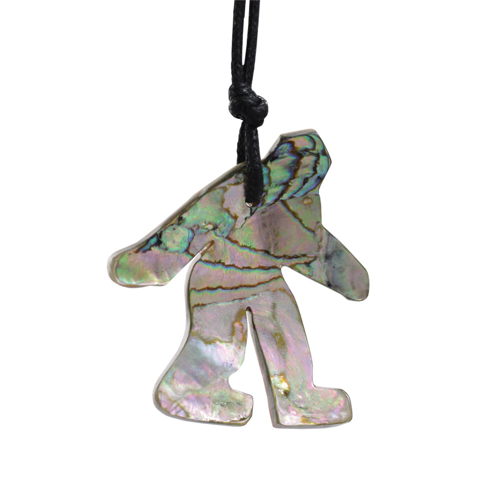 Abalone Sasquatch Necklace - Sasquatch The Legend