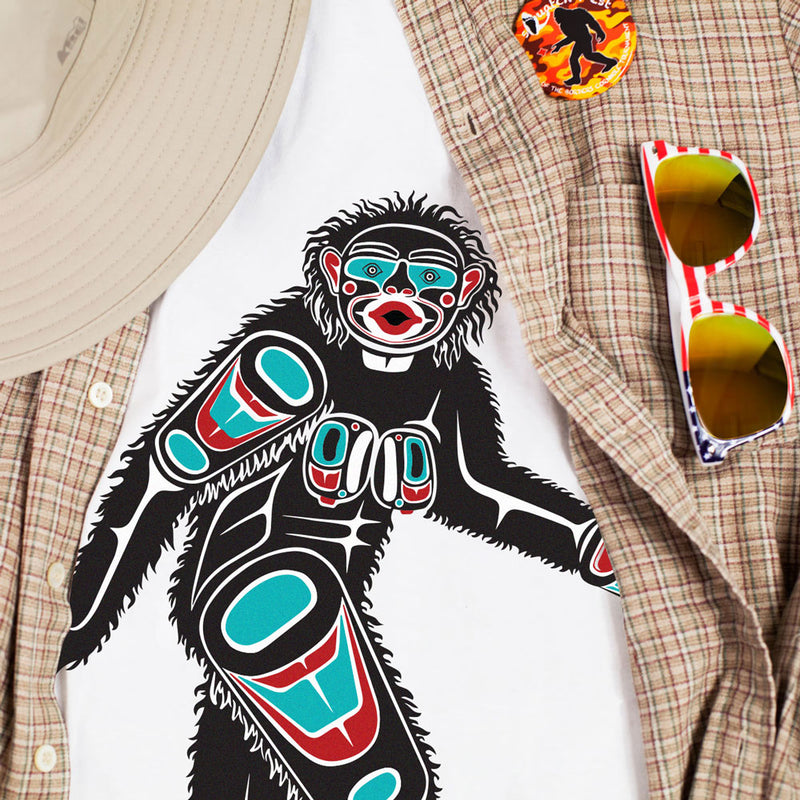 First Nations Patti Design by Thomas Sewid T-Shirt - Sasquatch The Legend