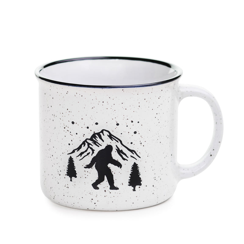 Sasquatch Campfire Ceramic Mug - Sasquatch The Legend